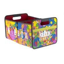 Faltbox Kids Bunt Large Faltbox Classic Large Kids Aufbewahrungsbox Transportbox Klappbox Lagerbox