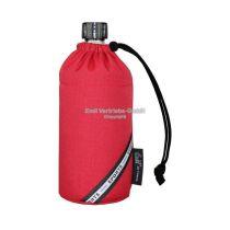 Flasche 0,4 Liter rot red Glasflasche Trinkflasche Isolierflasche Germany Thermobecher Glas