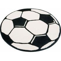 Fußball-Teppich rund 100 cm Kinderteppich Fußballteppich Fussball Kinder Spielteppich