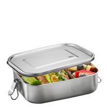 Gefu Lunchbox Endure groß Fächer Brotdose Vesperbox Edelstahl auslaufsicher