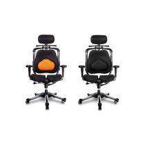 Harastuhl Bürostuhl ZEN-LS schwarz o. orange Polyestergewebe Lordosenstütze Chefsessel Schreibtischstuhl