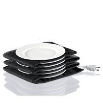 Küchenprofi Elektrischer Tellerwärmer XL 12 Teller 32 cm waschbar schwarz Durchmesser