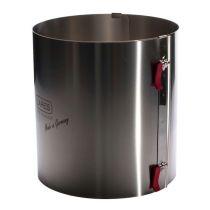 Lares Tortenring mit Klemmhebel 20 cm extra hoch Edelstahl fixierbar verstellbar