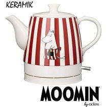 Moomin Keramik Wasserkocher Wasserkessel Teekocher Rot Weiss 0,8L 1750 Watt