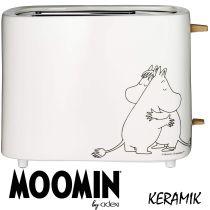 Moomin Toaster Keramik 2 Scheiben, 875 Watt, Weiss by Adexi