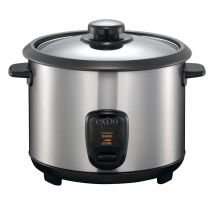 Reiskocher 1,5 Liter Edelstahl Reiskocher Rice Cooker Reiszubereitung Reis Dampfgarer Langkornreis
