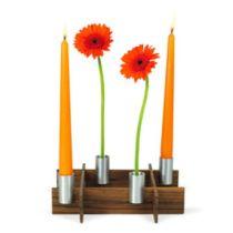 SALE Steckvase und Leuchter fest-x Blumenvase Kerzenleuchter Kerzenhalter Kerzenständer Tischdekoration