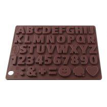 Schokoladenform Buchstaben und Zahlen 2er Set Pralinenform 2109 Silikon Silikonform