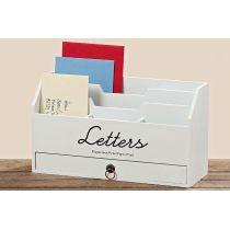 Utensilo Lemgo Utensilien weiß Holz Briefhalter Briefbox Ablagebox Ordnungsbox Stiftebox Bürobutler
