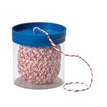 Wurstgarn weiß/rot in Box Bratenschnur Küchenkordel Rollbraten-Faden Küchenschnur Grillschnur