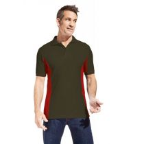 Promodoro Men Function Contrast Polo hunling green - rot, Gr. L