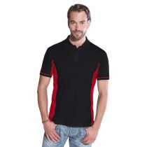 Promodoro Men Function Contrast Polo schwarz - rot, Gr. L