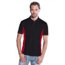Promodoro Men Function Contrast Polo schwarz - rot, Gr. S
