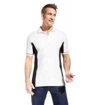 Promodoro Men Function Contrast Polo weiss - schwarz, Gr. M