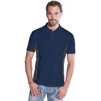 Promodoro Men´s Function Contrast Polo Navy - hell grau, Gr. L