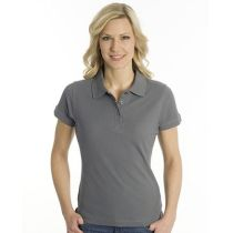 SNAP Polo Shirt Top-Line Women stahlgrau, Grösse M
