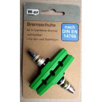 Bremsschuhe V-Brake Bremsbeläge Bremsgummis Grün 1 Satz 70mm