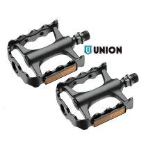 Fahrrad-Pedalen Pedale Union Marwi mit CrMo-Achse Schwarz