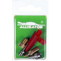 Fahrrad Ventiladapter-Set 3-fach Alligator