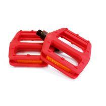 Fahrradpedalen Plattform-Pedale Pedalen Kunststoff Rot