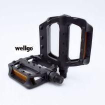Wellgo Fahrradpedalen Plattform-Pedale Pedalen Schwarz