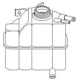Ausgleichsbehälter Kühler Opel Kadett E / Combo 1.5 TD / 1.6 DA / 1.7 D / TD 3 Anschlüsse - GM / Vauxhall Astr