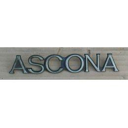 Emblem Kofferraumdeckel Opel Ascona A  ASCONA  - 9.69 - 8.75 - Schriftzug / Logo - gebraucht