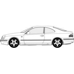 NEU + Kotflügel Mercedes Benz W - C 208 R CLK Coupe - DB / Daimler 9.96 - 8.xx - ohne Blinkerloch + Original +