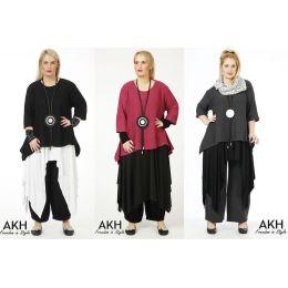 AKH Fashion Lagenlook Pullover Baumwolle