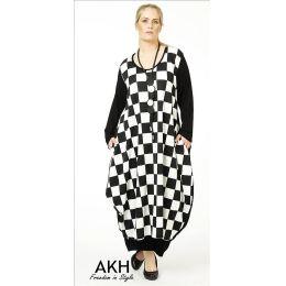 Lagenlook Kleid große Karos AKH Fashion