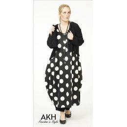 Lagenlook Kleid große Punkte AKH Fashion