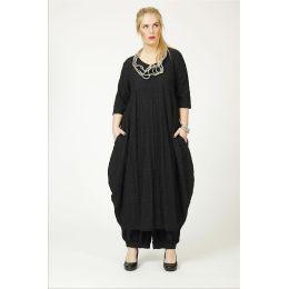 Lagenlook Leinenkleid schwarz