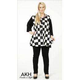 Lagenlook Shirt große Karos AKH Fashion