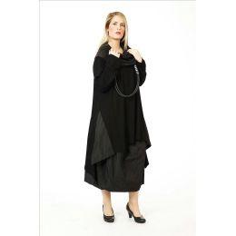 Lagenlook Tunika-Kleid asymmetrisch