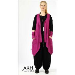 Lagenlook Weste violett AKH Fashion