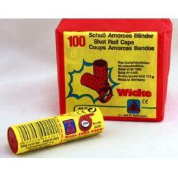 Amorcesbänder - 100 Schuß auf einem Band - Zündplättchen für Spielzeugpistolen
