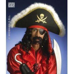 Bart - Piratenbart mit Perlen - schwarz