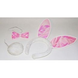 Bunny Hasen Set im Beutel - rosa-weiß - SONDERPREIS