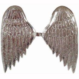 Engelsflügel silber aus Plastik ca. 38 cm (ein Paar)