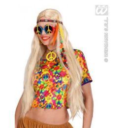 Haarband - Hippielook mit Federn - Karneval Fasching Mottoparty