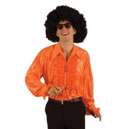 Hemd - Rüschenhemd - orange - Gr. XL - SONDERPREIS