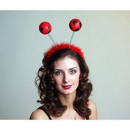 Kopfbügel mit Marienkäferfühlern - Haarreif Marienkäfer