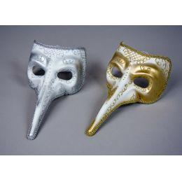 Schnabelmaske Pantalone silber oder gold - Venedig
