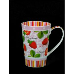 Becher Dekor Erdbeere, Brillantporzellan