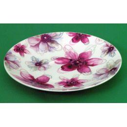 Jameson und Tailor, Teller Dekor Blüten Pink, Brillantporzellan