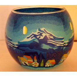 Kerzenfarm Leuchtglas Mountain´s Winternight, Größe 11 cm, Teelicht