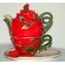 Tea for One Set, Rose, rot