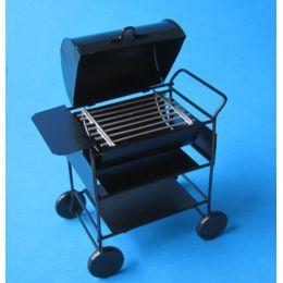 American Barbeque Grill schwarz Metall  Puppenhaus Miniaturen 1:12