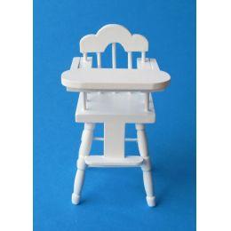 Babystuhl Hochstuhl versch. Farben Puppenhausmöbel für die Puppenstube Miniatur 1:12
