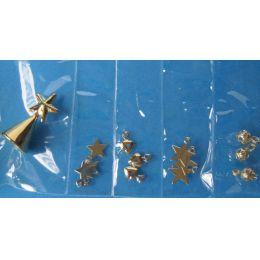 Baumschmuck Kugeln, Sterne, Spitze 13 Teile goldfarben Weihnachten im Puppenhaus Miniatur 1:12